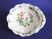 Spode Hand Painted Fluted Shell Dessert Dish, Pattern 3580 c1815